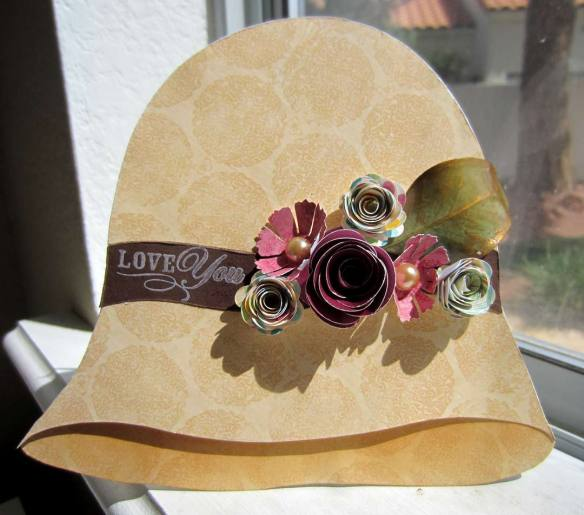 Shaped Vintage Hat Card