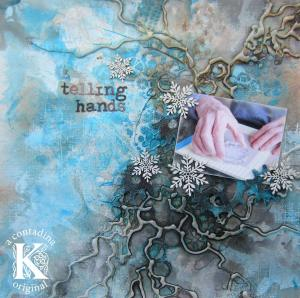 """Telling Hands"" Mixed Media Layout Video Tutorial"