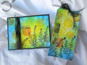 VIbrant Watercolored Effects with Distress Inks