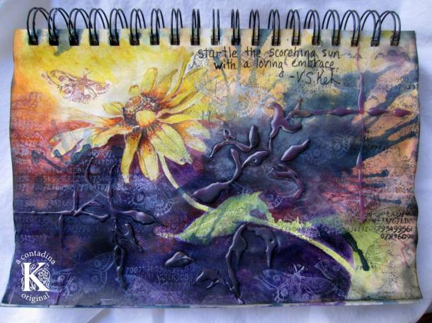 """Thrive,"" Fluidity in Mixed Media Compositions Video Tutorial"