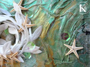 """Mixed Media Mini Album Video Tutorial, """"Inspired by the Sea."""""""