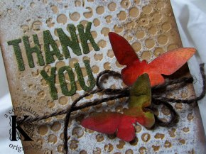 An Easy Thank You Card with Sizzix