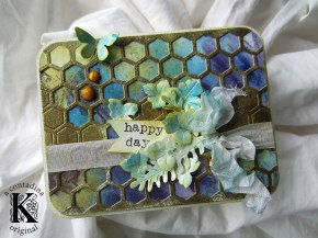 Mixed Media Honeycomb Card