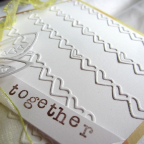Intricate and Easy White on White Card